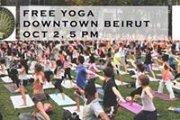 Free Yoga at Downtown Beirut- Gebran tueni Sports Day
