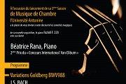 Inauguration de la 3ème Saison de Musique de Chambre de l'UA