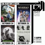 Tim Burton's halloween week movie nights