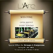 Open buffet every Sunday at L'ARC Resort