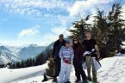 Snowshoeing at Arz Hadath with Dale Corazon