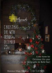 Celebrate a Christmas Eve with Friends at Le Télégraphe de Belle-Vue!