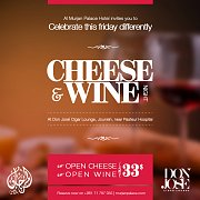 Cheese and wine at Al Murjan Palace Hotel - Every Friday