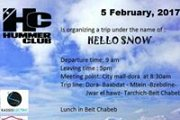 Hello Snow - Hummer snow road trip event