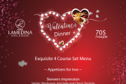 Valentine's Dinner at Lamedina Hotel