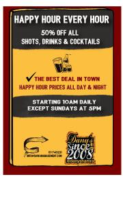 Happy Hour Day & Night at Dany's Hamra