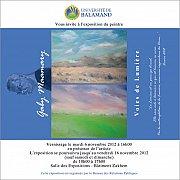 Voies de Lumiere - Exposition de Gaby Maamary