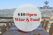 $40 Open Wine & Food at Château Sainte-Andrée