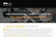 Certificate in Franchise Management