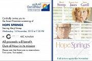 "Oum el Nour Cinema Fundraising Event: Avant-Premiere of ""Hope Springs"""