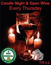 Candle Night & Open Wine at Mon General every Thursday