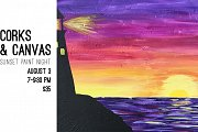 Corks & Canvas - Sunset Paint Night
