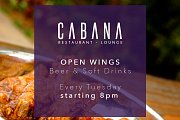 Open Wings & Beer every Tuesday