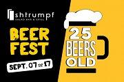 Shtrumpf Beer Fest - 25 Beers Old
