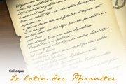 """Colloque """"Le latin des Maronites"""""""