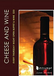 Cheese & Wine buffet at Shtrumpf every Thursday