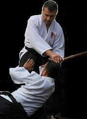 Aikido training class with Lian Tawtah Sensei