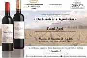 """Conférence Sur le Vin; """"Du terroir à la Dégustation"""""""