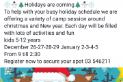 Christmas Camp at Artlet Atelier