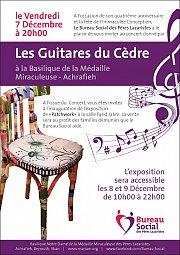 """Concert """"Les Guitares du Cedre"""" et Exposition """"Patchwork"""""""