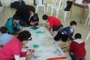 Atelier de peinture avec Monique Chebli Rizkallah à Nabaa avec l'Association INSAN