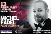 Michel Fadel Plays Valentine at Phoenicia Hotel