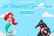 Meet & Greet Little Mermaid and Captain America