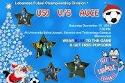 Futsal Lebanon D1 : USJ vs. AUCE