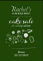 Rachel's Awesome Cake Sale - The Holiday Edition