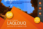 "ROCK Climbing ""Laqlouq"" with Go UP Climbing Club"
