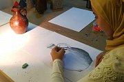 Drawing at Alwan Salma