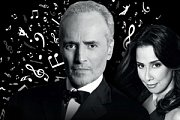 JOSE CARRERAS and Monica Yunus at Zouk Mikael International Festival