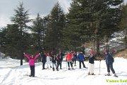 Arz Tannourine Snowshoeing with Vamos Todos