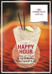 Happy Hour at Top 21 at Crowne Plaza Hotel