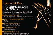 Center for Early Music | Songs and Fantasies in Europe in the XVIIth Century