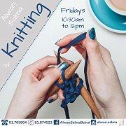 Knitting at Alwan Salma