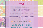 Promise Quilts + Table Runner Workshop at Alwan Salma