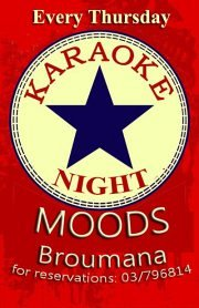 Karaoke at Moods Pub every Thursday