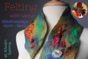 Felting at Alwan Salma