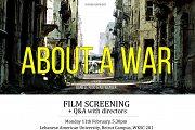 About A War Film Screening