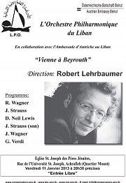 """Concert de L'Orchestre Philharmonique du Liban (LPO) - """"Viennes a Beyrouth"""""""