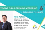 Public Speaking Workshop with Roni Alpha