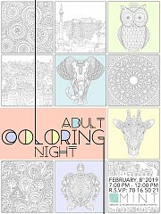 Adult Coloring Night at Mint Amioun