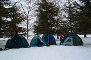 Camping (Tents & Bungalows) on the Snow in Arz Ehmej with Footprints Club
