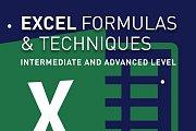 EXCEL FORMULAS & TECHNIQUES: Intermediate & Advanced Level