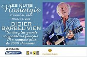 Didier Barbelivien en Concert au Casino du Liban