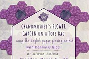 Grandmother's Flower Garden on a Tote Bag at Alwan Salma