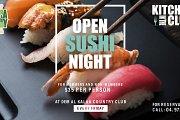 Open Sushi Night