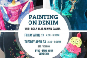 Painting on Denim at Alwan Salma