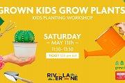 Grown Kids Grow Plants Workshop at Riverlane